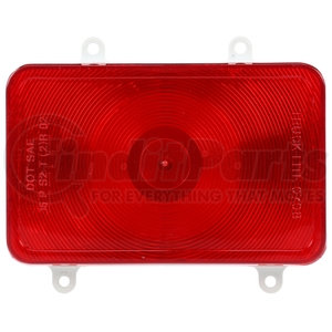 07081 by TRUCK-LITE - Stop/Turn/Tail Light - Bus, Incandescent, Red, Rectangular, 1 Bulb, 4 Screw, Blade Terminal, Stripped End, 12V