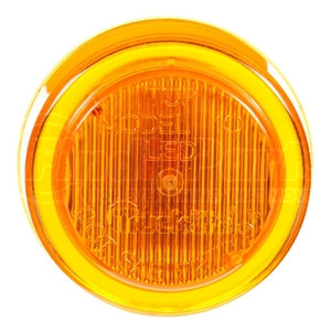 10250Y3 by TRUCK-LITE - 10 Series, LED, Yellow Round, 2 Diode, Marker Clearance Light, P2, Fit 'N Forget M/C, 12V, Bulk