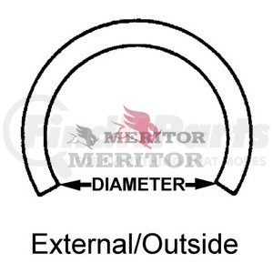 RRER162 by MERITOR - Meritor Genuine - SNAP RING