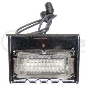 15055 by TRUCK-LITE - 15 Series, LED, 3 Diode, License Light, Rectangular, Chrome Bracket Mount, Hardwired, Female PL-10, 12V, Kit