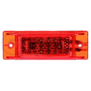 21271R by TRUCK-LITE - 21 Series, LED, High Mounted Stop Light, 16 Diode, Rectangular Red Polycarbonate, Bracket Mount, Hardwired, .180 Bullet , 12V