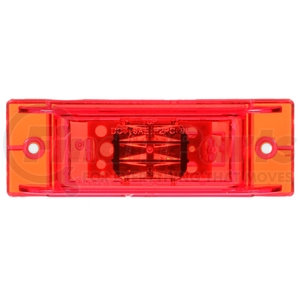 21275R by TRUCK-LITE - 21 Series, LED, Red Rectangular, 8 Diode, Marker Clearance Light, PC, 2 Screw, Fit 'N Forget M/C, 12V