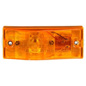 22002Y3 by TRUCK-LITE - 22 Series, Incandescent, Yellow Rectangular, 1 Bulb, Side Turn Signal, 2 Screw, PL-3, Stripped End/Ring Terminal, 12V, Kit, Bulk
