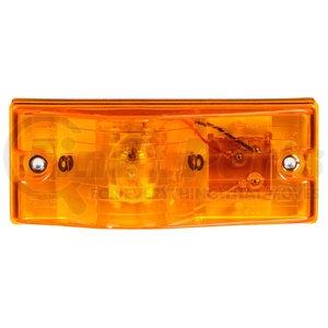 22202Y3 by TRUCK-LITE - 22 Series, Incandescent, Yellow Rectangular, 1 Bulb, Side Turn Signal, 2 Screw, PL-3, 12V, Kit, Bulk