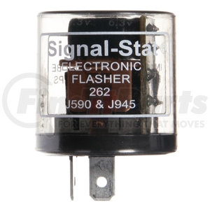 262 by TRUCK-LITE - Signal-Stat, 10 Light Electro-Mechanical, Plastic Flasher Module, 60-120fpm, 12V, 2 Blade Terminals