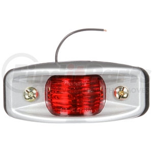 26311R by TRUCK-LITE - Clearance/Marker Light - 26 Series, Incandescent, Bracket Mount, Kit, Silver Mount, 1 Bulb, Hardwired/Stripped-End, 12V, Red