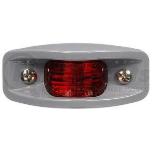 26313R by TRUCK-LITE - 26 Series Clearance / Marker Light - ABS, Incandescent, Red Rectangular, 2 Bulb, PC, Silver ABS Bracket Mount, Hardwired, Stripped End, 12V