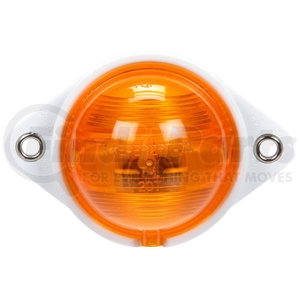 20301Y by TRUCK-LITE - Incandescent, Yellow Round, 1 Bulb, Side Turn Signal, Bracket Mount, Hardwired, Stripped End, 12V