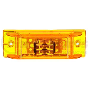 21075Y by TRUCK-LITE - 21 Series, LED, Yellow Rectangular, 8 Diode, Marker Clearance Light, PC, 2 Screw, Fit 'N Forget M/C, .180 Bullet Terminal/Ring Terminal, 12V, Kit