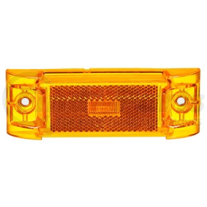 21251Y3 by TRUCK-LITE - 21 Series, LED, Yellow Rectangular, 3 Diode, Marker Clearance Light, PC, 2 Screw, Reflectorized, Fit 'N Forget M/C, 12V, Bulk