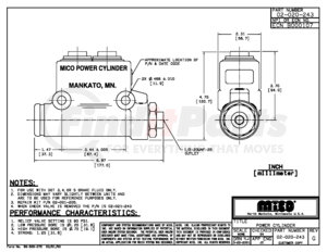02-020-243 by MICO - MASTER CYLINDER (Please allow 7 days for handling. If you wish to expedite, please call us.)