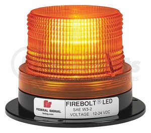220250-02 by FEDERAL SIGNAL - FIREBOLT LED, Permanent/PIPE, AMBER