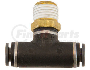 NBT0M25P125S by BUYERS PRODUCTS - Brass/Poly DOT Push-In Swivel Male Branch Tee 1/4 Inch Tube OD x 1/8 Pipe Thread