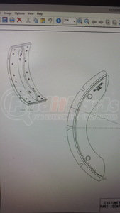 """A13222V2232 by AXLETECH - Replacement for Axletech - BRAKE SHOE New 5"""" Wide"""