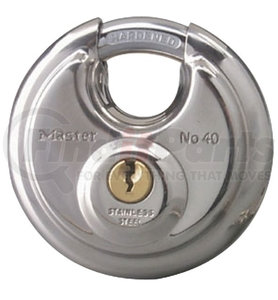 "40D by REDNECK TRAILER - MASTERLOCK PADLOCK 3/8"" SHACKLE, STAINLESS STEEL"
