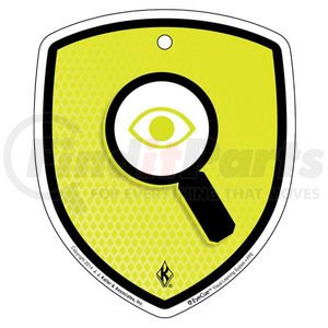 "41471 by JJ KELLER - EyeCue Tags - PPE Inspection Reminder - Floor Labels, 8"" x 9"" (5-Pack)"