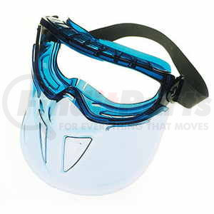 46544 by JJ KELLER - Jackson Safety V90 Shield Goggle Protection - Blue Frame, Clear Anti-Fog Lens