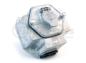 """38830 by TRAMEC SLOAN - ZINC 7-WAY RECEPT WITH 15A BREAKERS AND 3"""" BOX, SOLID"""