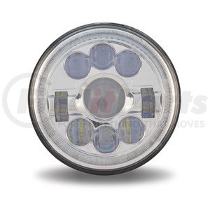 """TLED-H47 by TRUX - 7"""" Motorcycle LED Headlight with Auxiliary Angel Ring (High / Low Beam)"""