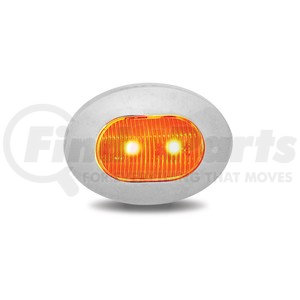 TLED-BX4AW by TRUX - Dual Revolution Amber Marker to White Auxiliary Mini Oval LED Light