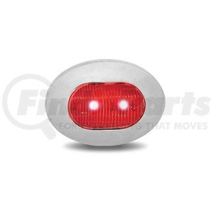 TLED-BX4RB by TRUX - Dual Revolution Red Marker to Blue Auxiliary Mini Oval LED Light