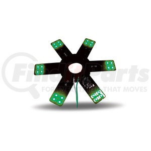 """TLED-X1G by TRUX - 8"""" Green Star LED Light for 15"""" Donaldson & Vortox Air Cleaners"""