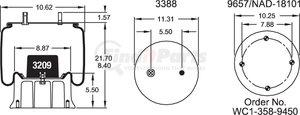 W013589144 by FIRESTONE - 1T19L7 AIR SPRING