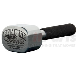"""J4.8 by HAMMER WORKS - 4 lbs, 8 oz Solid Zinc Hammer with 10"""" Handle"""