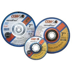 """35621 by CGW ABRASIVE - Depressed Center Grinding Wheel, T27, 4-1/2"""" x 1/4"""" x 5/8-11"""" Arbor, A24R for Metal, 13,300 RPM"""