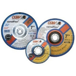 """35656 by CGW ABRASIVE - Depressed Center Grinding Wheel, T27, 9"""" x 1/4"""" x 7/8"""" Arbor, A24N for Metal, 6,600 RPM"""