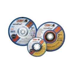 """35610 by CGW ABRASIVE - Depressed Center Grinding Wheel, T27, 4"""" x 1/4"""" x 5/8"""" Arbor, A24R for Metal, 15,300 RPM"""