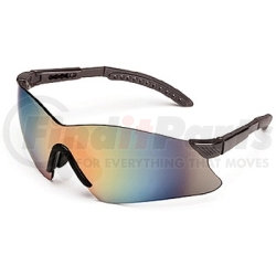 14GB83 by GATEWAY SAFETY - Safety Glasses, Hawk, Gray Lens, Black Frame, Rimless One-Piece Winged Design