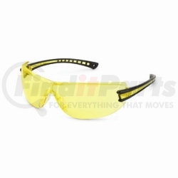 19GB75 by GATEWAY SAFETY - Safety Glasses, Luminary, Wraparound Amber Anti-Scratch Lens, Black Temple, Lightweight
