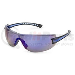 19GB80 by GATEWAY SAFETY - Safety Glasses, Luminary, Wraparound Clear Anti-Scratch Lens, Black Temple, Lightweight