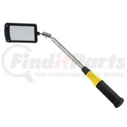 """80560 by GENERAL TOOLS & INSTRUMENTS - Lighted Telescoping Inspection Mirror, 2"""" x 3"""" Rectangular Head, Telescoping Range 12-1/4"""" to 33"""""""