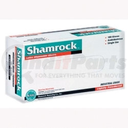 61413 by SHAMROCK - Latex Gloves, Disposable, Large, Powdered, Non-Sterile, Fully Textured, 100 per Box