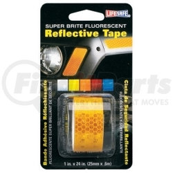 """RE184 by INCOM MFG - Fluorescent Reflective Tape, Super Brite Yellow, 1"""" x 24"""" Roll, Provides Long Distance Visibilty"""