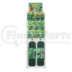 SK3145 by INCOM MFG - Anti-Slip Safety Grit Tape Display, 37 Pieces, 9 SKUs, Assorted Rolls and Strips, Wire Rack