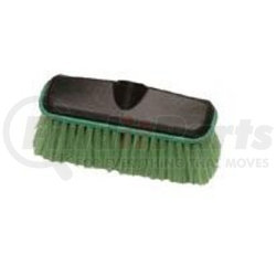 """1101 by LAITNER BRUSH PRODUCTS - Wash Brush Head Only, 10"""" Wide Plastic Block with Threaded Hole, Soft Flagged Polyester Bristles"""