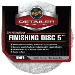 """DMF5 by MEGUIAR'S - 5"""" DA Microfiber Finishing Disc, 2 Pack"""