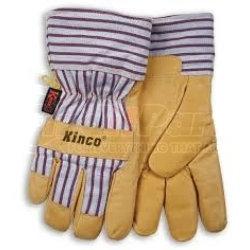 1927M by KINCO INTERNATIONAL - Work Gloves, Grain Pigskin Palm, Material Back and Cuff, Heatkeep Insulated Lining, Medium
