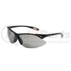 A961 by UVEX - Safety Glasses, Bi-Focal Readers, +2.00, Sporty Black Frame, Wraparound TSR Gray Hardcoat Lens