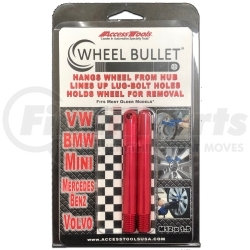 WB2-1215RED by ACCESS TOOLS - Wheel Bullet 12x1.5 2 PK
