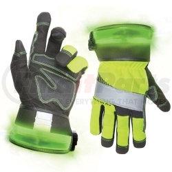 L146L by CUSTOM LEATHERCRAFT - Safety Pro Lighted Glove, L