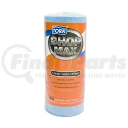 """192160 by SCA TISSUE - Tork Advanced Shop Max DRC Wipers Blue Roll  - 10.4x11"""" - 1 - 30/60 count"""