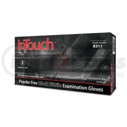 B311-L by ATLANTIC SAFETY PRODUCTS - InTouch™ Powder Free Black Nitrile Exam Gloves, Large