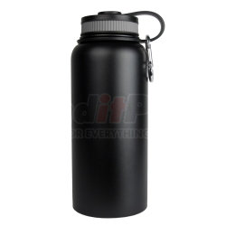 WB-32BK by SARGE - 32oz Black Stainless Steel Water Bottle