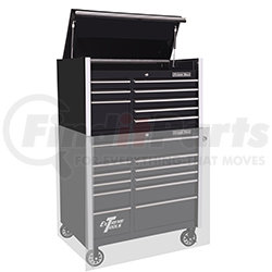 """RX412508CHBK by EXTREME TOOLS - Extreme Tools 41"""" 8-Drawer Top Chest, Black"""