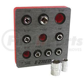 """SHS14 by E-Z RED - 1/4"""" SAE Magnetic Socket Holder"""