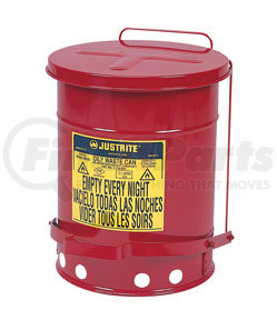 9100 by JUSTRITE - 6-Gallon Oily Waste Can for General Use
